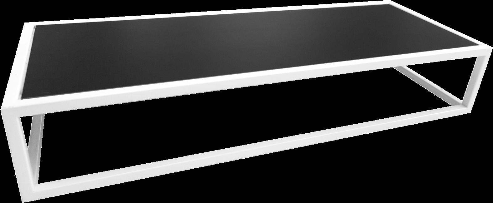 White Linear Table Riser Frame - 80 x 30 x 15cm H