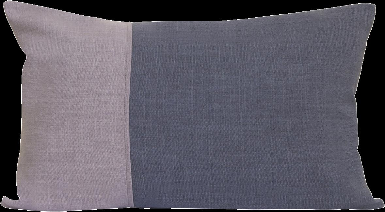 Natural Rectangle Cushion - Blush/Charcoal - 35 x 50cm