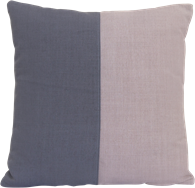 Natural Cushion - Blush/Charcoal - 50 x 50cm