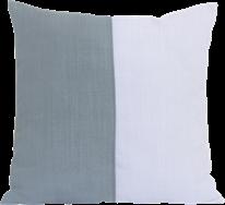 Natural Cushion  - Sage/White - 50 x 50cm