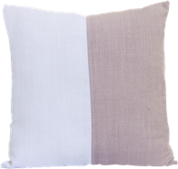 Natural Cushion - Blush/White - 50 x 50cm