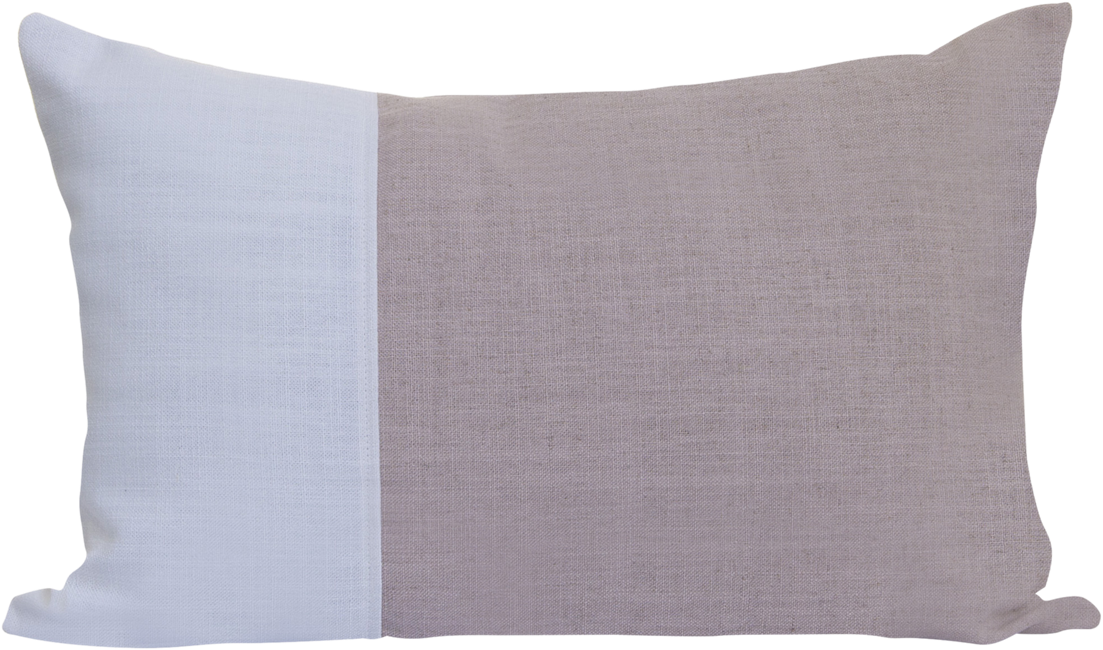 Natural Rectangle Cushion - Blush/White - 35 x 50cm
