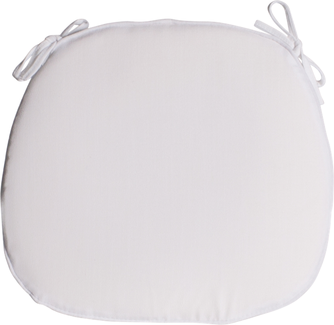 Cross Back Cushion - White