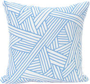Criss-Cross Cushion - Blue/White - 40cm x 40cm