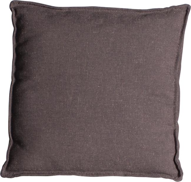 Mason Cushion - Charcoal Linen - 50 x 50cm