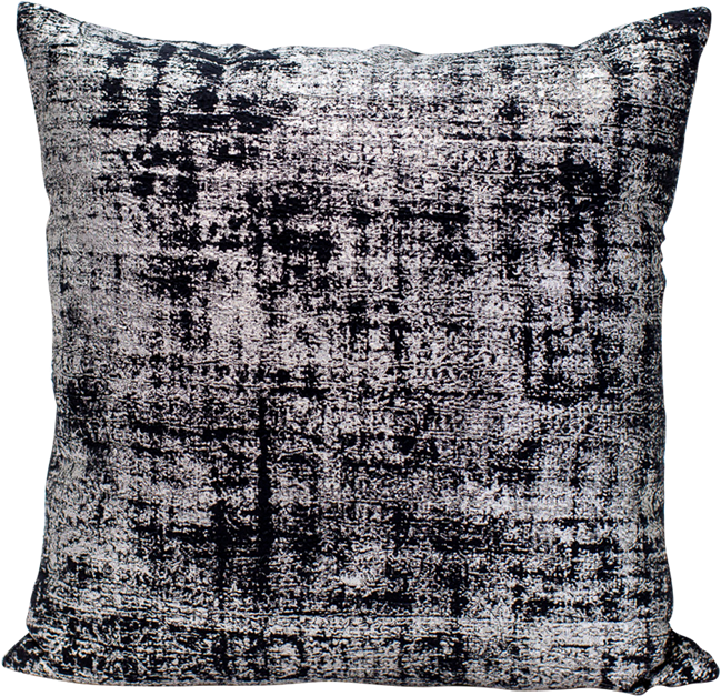 Metallic Cushion - Silver Black - 50 x 50cm