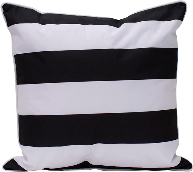 Stripe Cushion - Black/White - 50 x 50cm