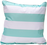 Stripe Cushion - Mint/White - 50 x 50cm