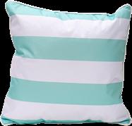 Stripe Cushion - Mint/White - 50 x 50cm