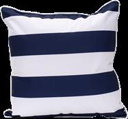 Stripe Cushion - Navy/White - 50 x 50cm