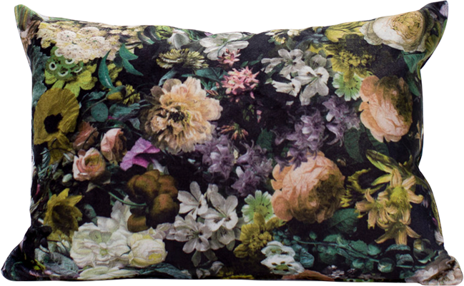Velvet Cushion - Bouquet - 35 x 50cm