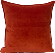 Velvet Cushion - Terracotta - 45 x 45cm