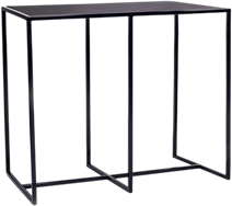 Black Linear Bar Table - 150 x 70cm