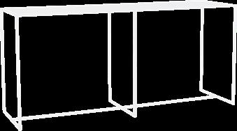 Linear High Dining Table - 240 x 70 x 110cm H