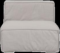 Mason Single Lounge - Natural Linen