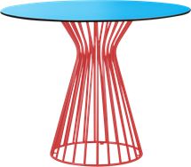 Red Monroe Cafe Table
