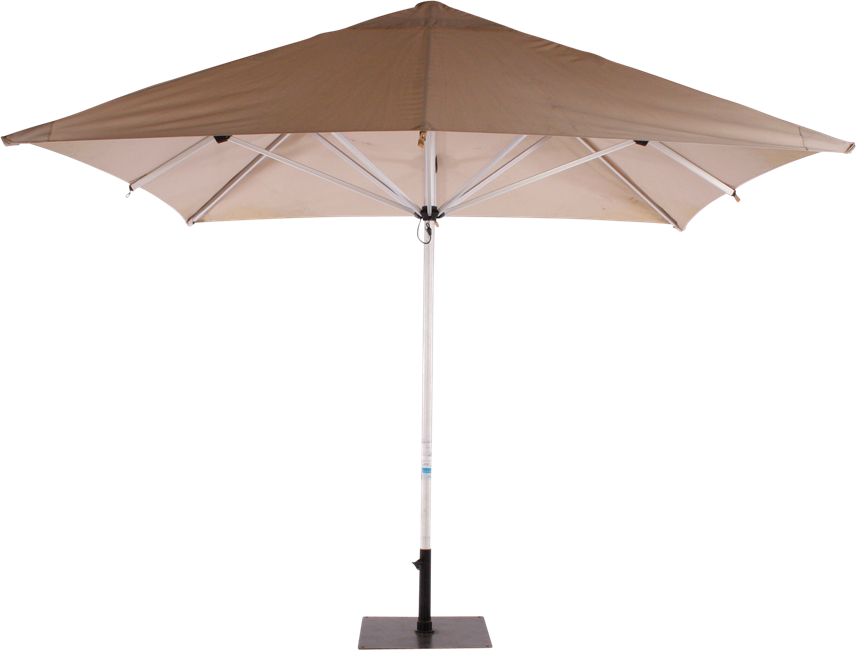 Umbrella Aluminium - Natural - 3m Sq