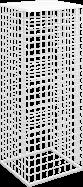 Mesh Plinth 45 x 45 x 120cm H