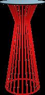 Red Monroe Bar Table