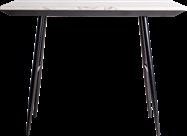 Nova bar table 150cm x 70cm black legs