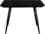 Nova Dining Table 1100 x 1100 Black Leg