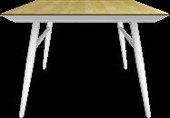 Nova Dining Table 1100 x 1100 White Leg