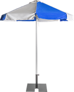 Umbrella - Blue - 2m - Octagonal