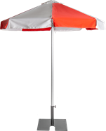 Umbrella - Red - 2m - Octagonal