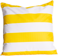 Stripe Cushion - Yellow/White - 50 x 50cm