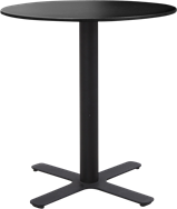 Black Plus Cafe Table - 60cm Rd