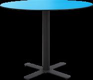 Black Plus Cafe Table - 80cm Rd