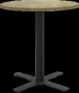 Black Plus Cafe Table - 60cm Rd