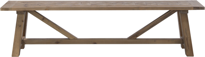 Parquetry Bench - 35 x 180 x 45cm H