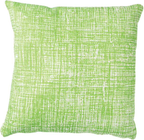Hessian Cushion - Lime - 50 x 50cm