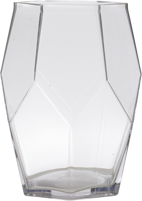 Vase - Glass Small Pentagon - 15 x 20cm H