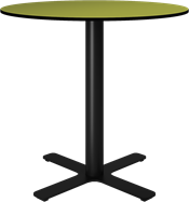 Black Plus Cafe Table - 80cm Rd