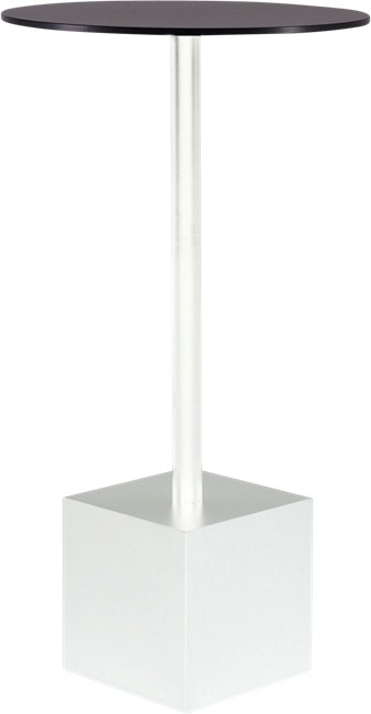 White Shape Bar Table