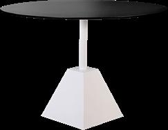 White Shape Cafe Table