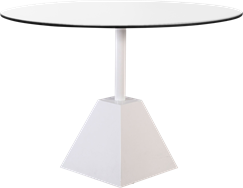 White Shape Cafe Table