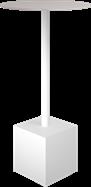White Shape Bar Table