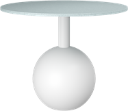 White Shape Coffee Table