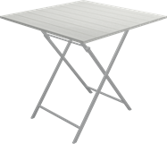 Sorrento Folding Garden Table - White - 80cm Sq