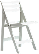 Sorrento Folding Chair - White