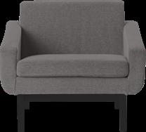 Studio Armchair - Black Leg - Black