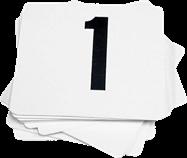 Table No's 10cm x 10cm (1-100)