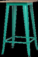 Tolix Timber Bar Table - 60cm sq