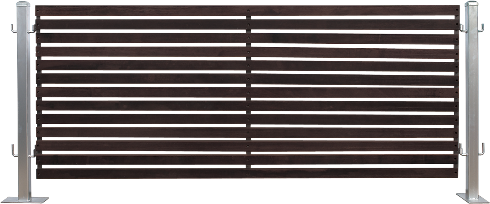 Timber Slatted Fencing Ebony (1m)