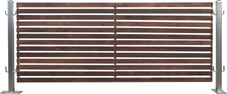 Timber Slatted Fencing Jarrah (1m)