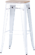 Tolix Timber High Stool
