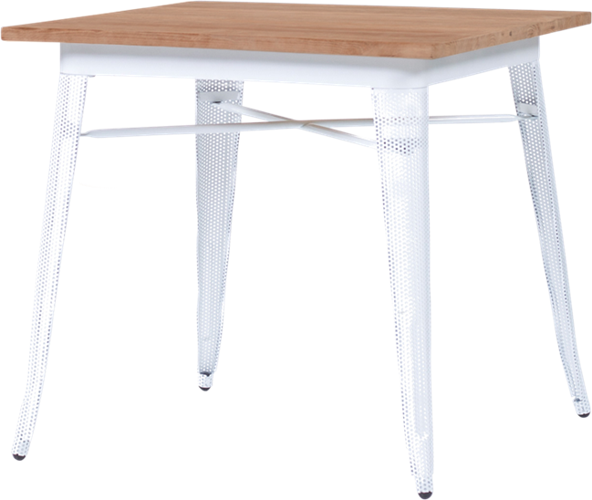 Tolix Timber Cafe Table